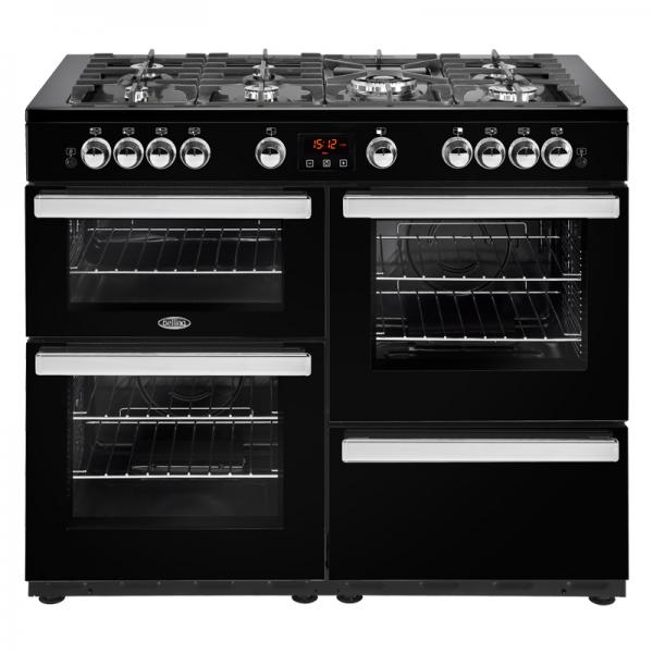Belling 444444101 Black 110G Cookcentre Gas Range Cooker