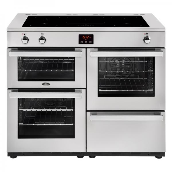 Belling 444444102 Professional Stainless Steel 110EI Cookcentre Electrical Induction Range Cooker