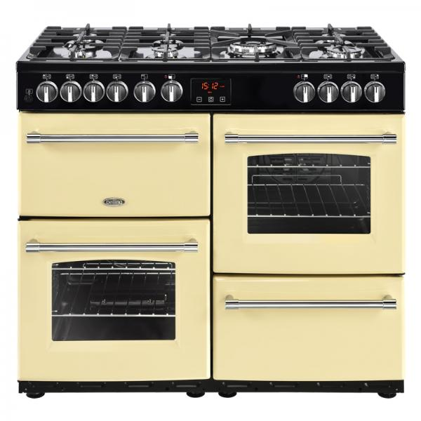 Belling 444444135 100DF Cream Farmhouse Dual Fuel Range Cooker