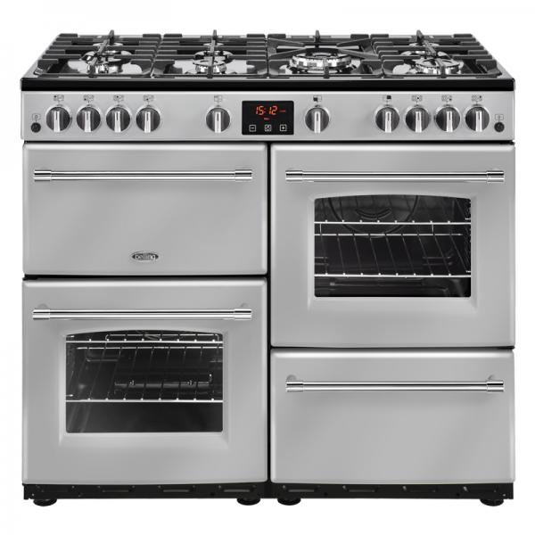 Belling 444444140 Silver Farmhouse 100G Gas Range Cooker
