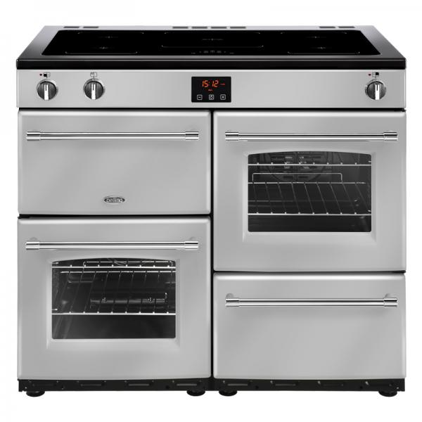 Belling 444444143 100EI Silver Farmhouse Induction Range Cooker