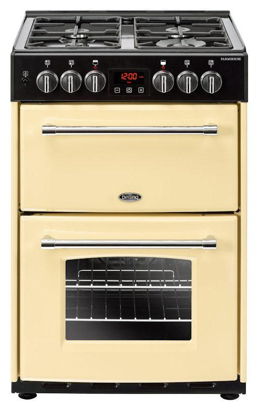 Belling 60DF 444444713 Farmhouse 60cm Cream Dual Fuel Mini Range Cooker