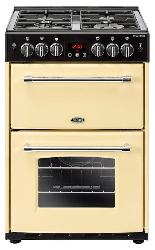 Belling 60G 444444716 Farmhouse 60cm Cream Gas Mini Range Cooker