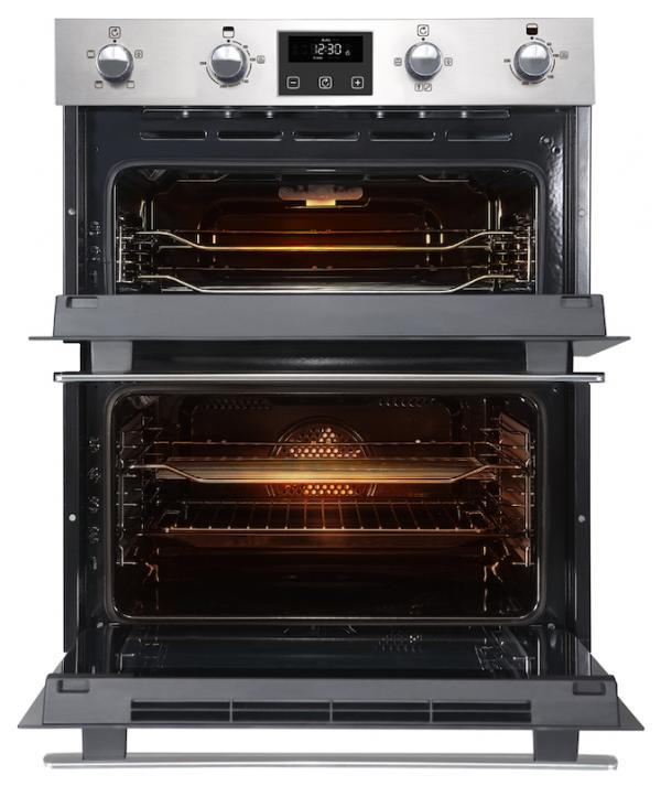 Belling BI702FPCT 444444783 Stainless Steel Built-Under Double Oven
