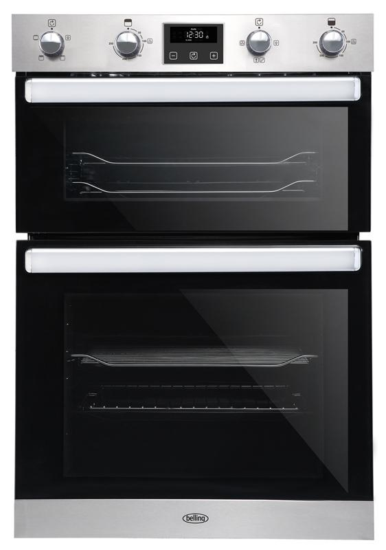 Belling BI902FP 444444785 Stainless Steel Built-In Double Oven