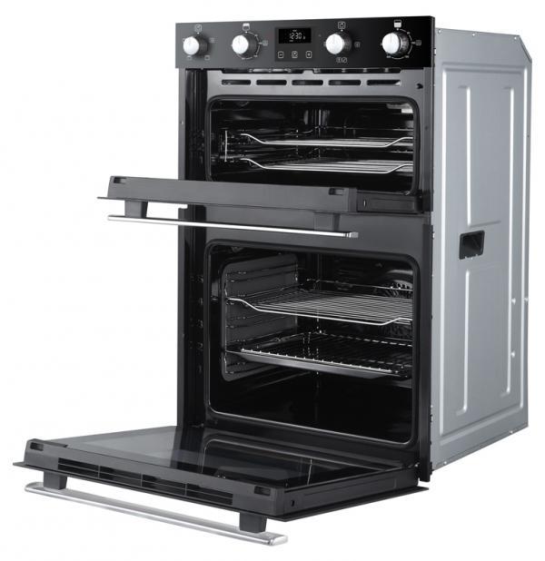 Belling BI902FP 444444786 Black Built-In Double Oven