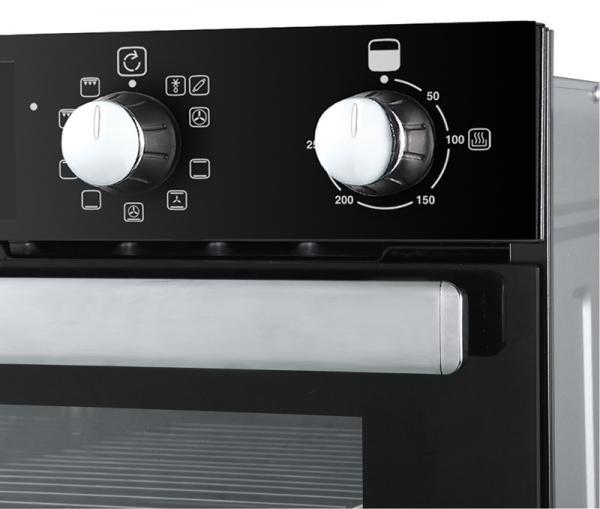 Belling BI902MFCT 444444788 90cm Black Built-In Double Oven