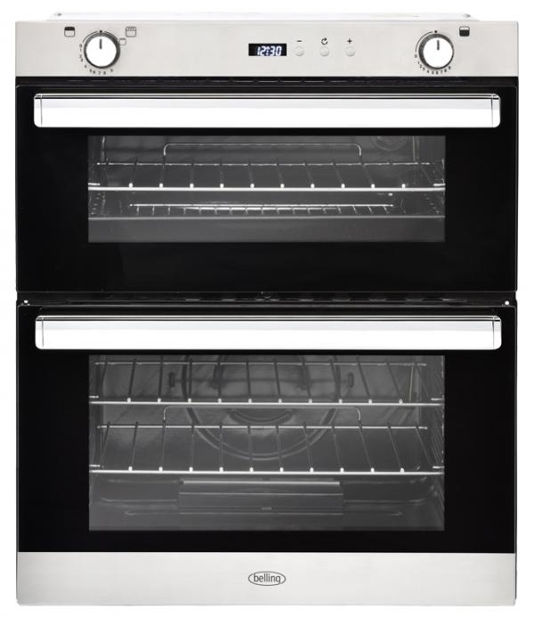 Belling BI702G 444444793 Stainless Steel Built-Under Gas Double Oven