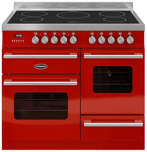 Britannia RC-10XGI-DE-RED 544440014 Delphi XG 100cm Red Induction Range Cooker