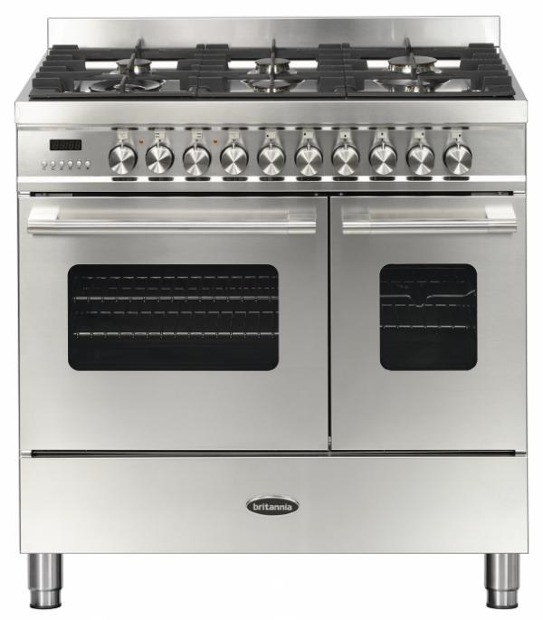 Britannia RC-9TG-DE-S 544440156 Delphi 90cm Stainless Steel Dual Fuel Range Cooker