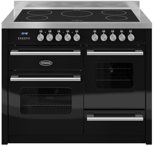 Britannia RC-11XGI-DE-K 544440247 Delphi 110cm XG Black Induction Range Cooker