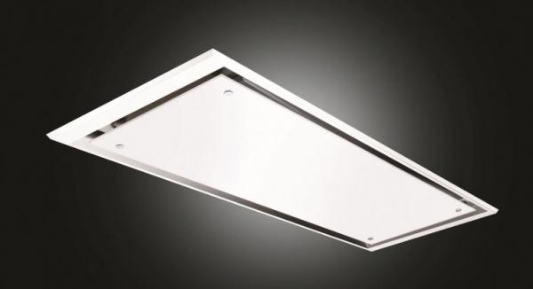 Airuno AU-ECLIPSE-90-MO Eclipse 90cm White Glass Ceiling Hood
