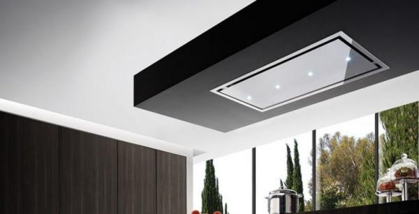 Airuno AU-OTEL90S/SLED Otello Stainless Steel 90cm Ceiling Hood