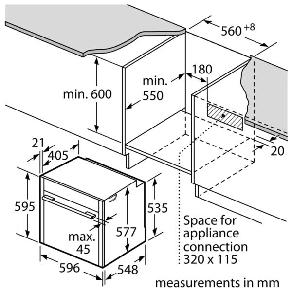 Neff B57CR23N0B Slide & Hide Pyrolytic Single Oven