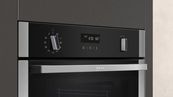 Neff B6ACH7HH0B HomeConnect Slide & Hide Pyrolytic Single Oven