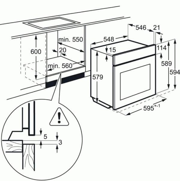 AEG BEB351010B Built-In Single Oven