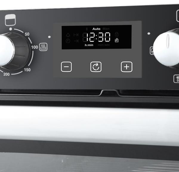 Belling BI702FPCT 444444784 Black Built-Under Double Oven