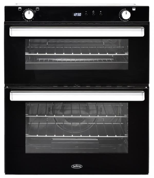 Belling BI702G 444444794 Black Built-Under Gas Double Oven