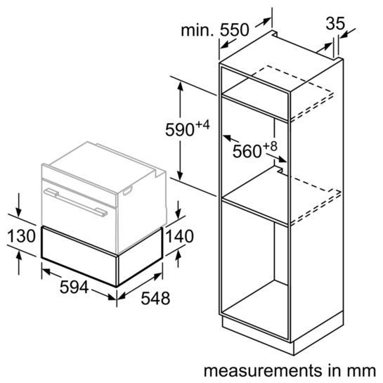 Bosch BIC630NS1B 14cm Warming Drawer