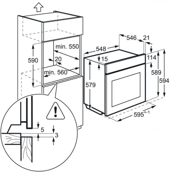 AEG BPS25102LM Pyrolytic Single Oven