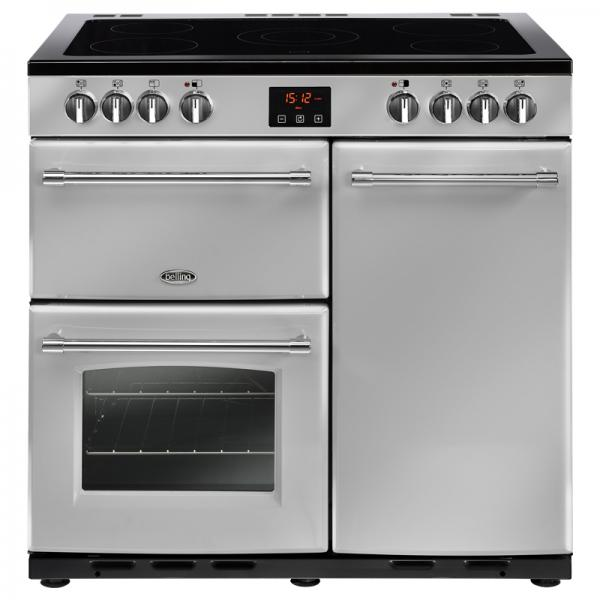 Belling 444444125 90E Silver Farmhouse Electric Range Cooker