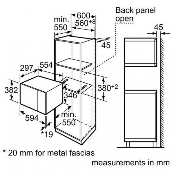 Bosch HMT75M654B Built-In Microwave