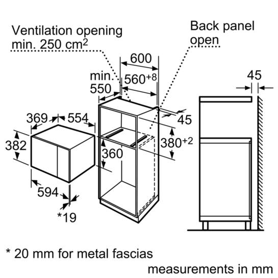 Bosch HMT84M664B Built-In Microwave