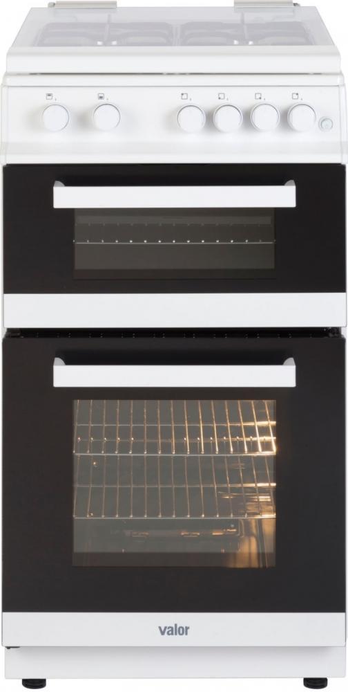 Valor V50GTCL White Freestanding 50cm Gas Cooker