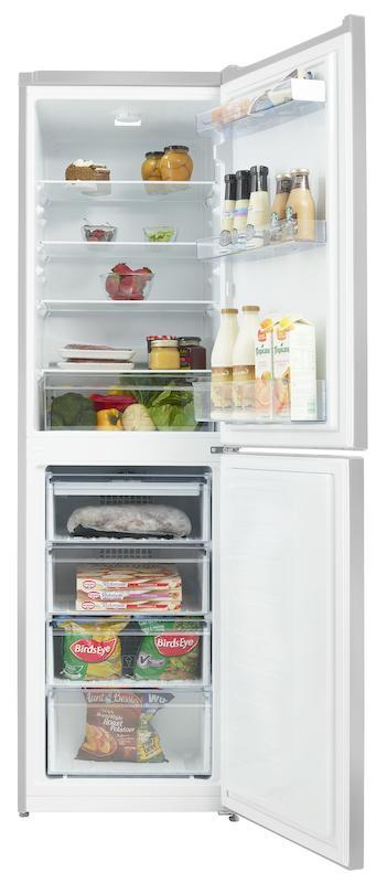 Beko CFG1582S 55cm Silver Frost Free Fridge Freezer