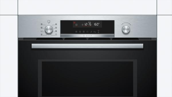 Bosch CPA565GS0B 45cm Combi Microwave Oven with Steam