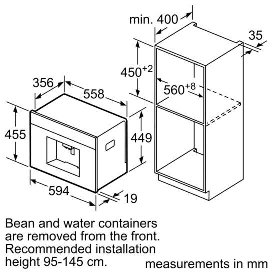 Bosch CTL636ES6 Built-In Coffee Machine