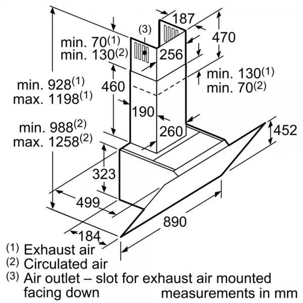 Neff D95IHM1S0B 90cm Angled Chimney Hood (EX DISPLAY)