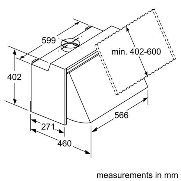 Bosch DEM63AC00B 60cm Integrated Hood