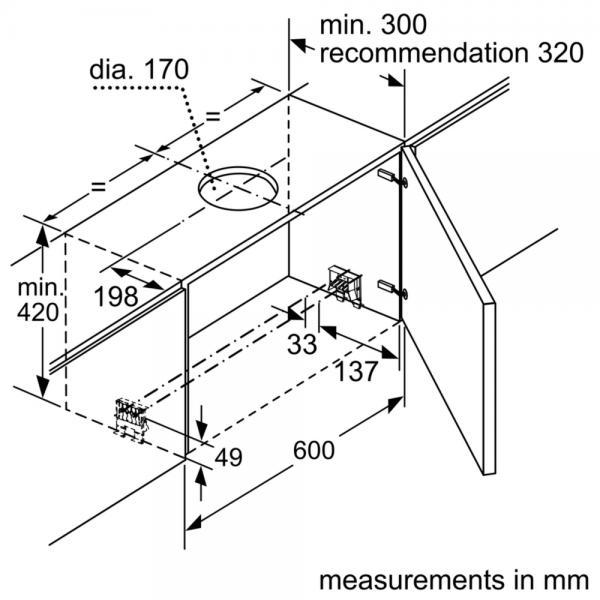 Bosch DFS067A50B 60cm Telescopic Hood