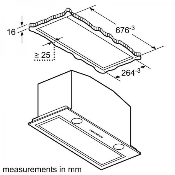 Bosch DHL785CGB 70cm Canopy Hood