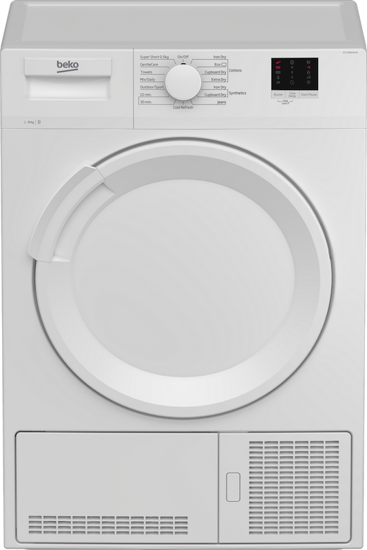 Beko DTLCE80041W Condenser Tumble Dryer