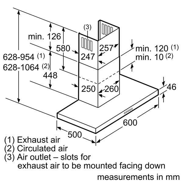 Bosch DWB068J50B 60cm Chimney Hood