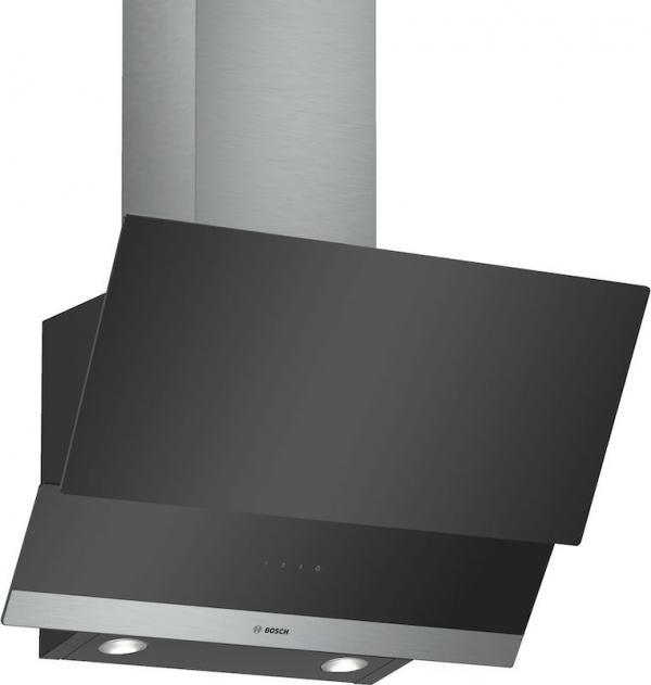 Bosch DWK065G60B 60cm Angled Glass Chimney Hood