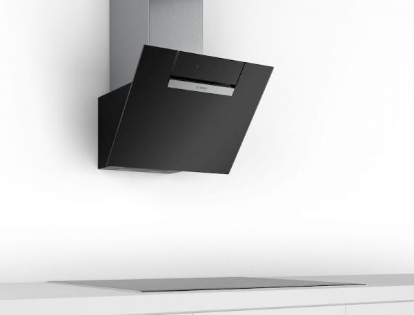 Bosch DWK67EM60B 60cm Black Chimney Hood