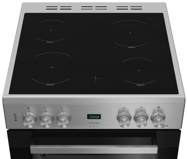Beko EDC633S 60cm Silver Ceramic Cooker