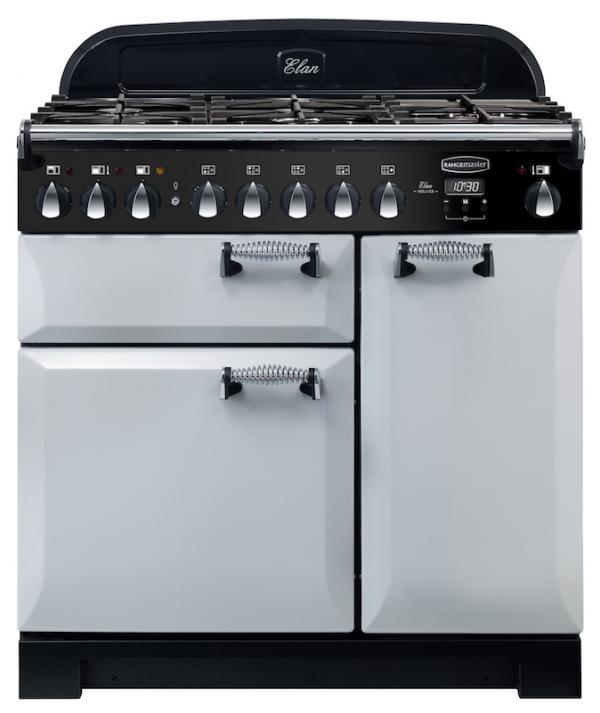 Rangemaster ELA90DFFRP 118120 Elan Deluxe 90cm Royal Pearl Dual Fuel Range Cooker