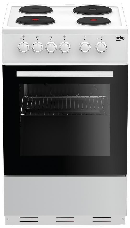 Beko ESP50W 50cm Solid Plate Electric Cooker