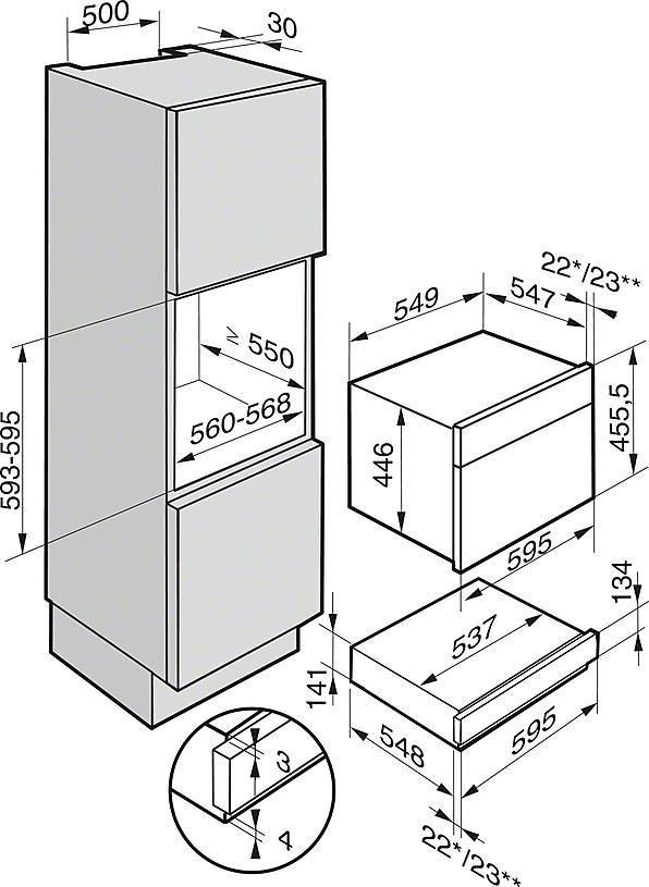 Miele ESW 6114 / ESW6114 14cm Warming Drawer (EX DISPLAY)