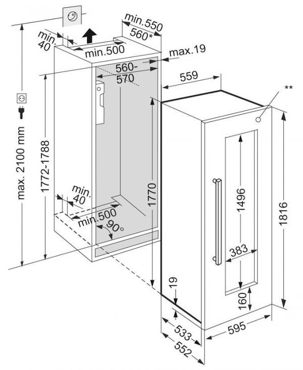 Liebherr EWTdf 3553 / EWTdf3553 Built-In Wine Cabinet