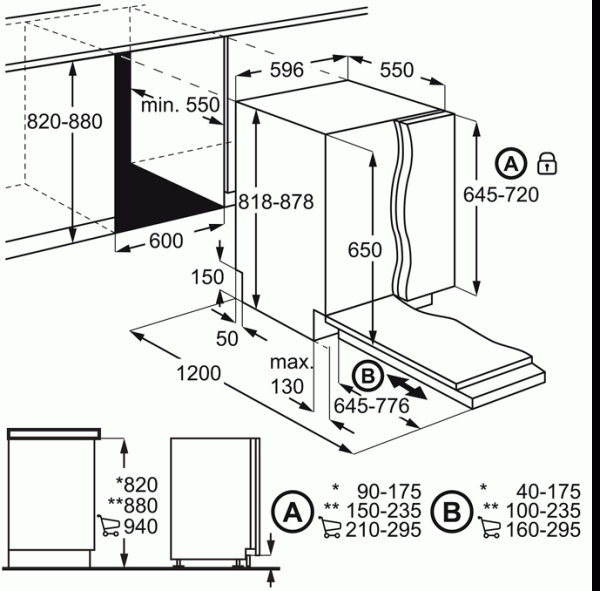 AEG FSS52610Z Integrated 60cm Dishwasher
