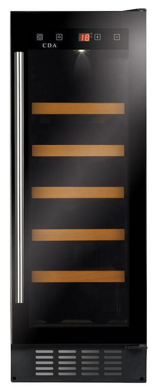 CDA FWC304BL 30cm Undercounter Slimline Wine Cooler