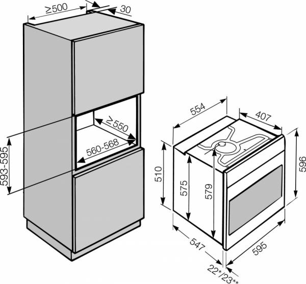 Miele H 2265 B / H2265B Catalytic Single Oven (Display)