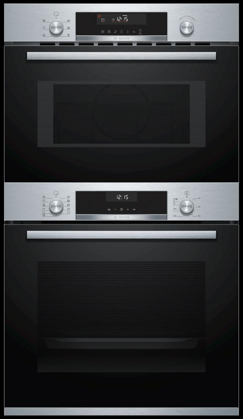 Bosch HBA5570S0B / CMA585MS0B - Single Oven / Combi Microwave Oven Pack
