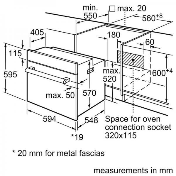 Bosch HBF113BR0B Single Oven