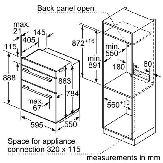Bosch HBM43B260B Built-In Double Oven